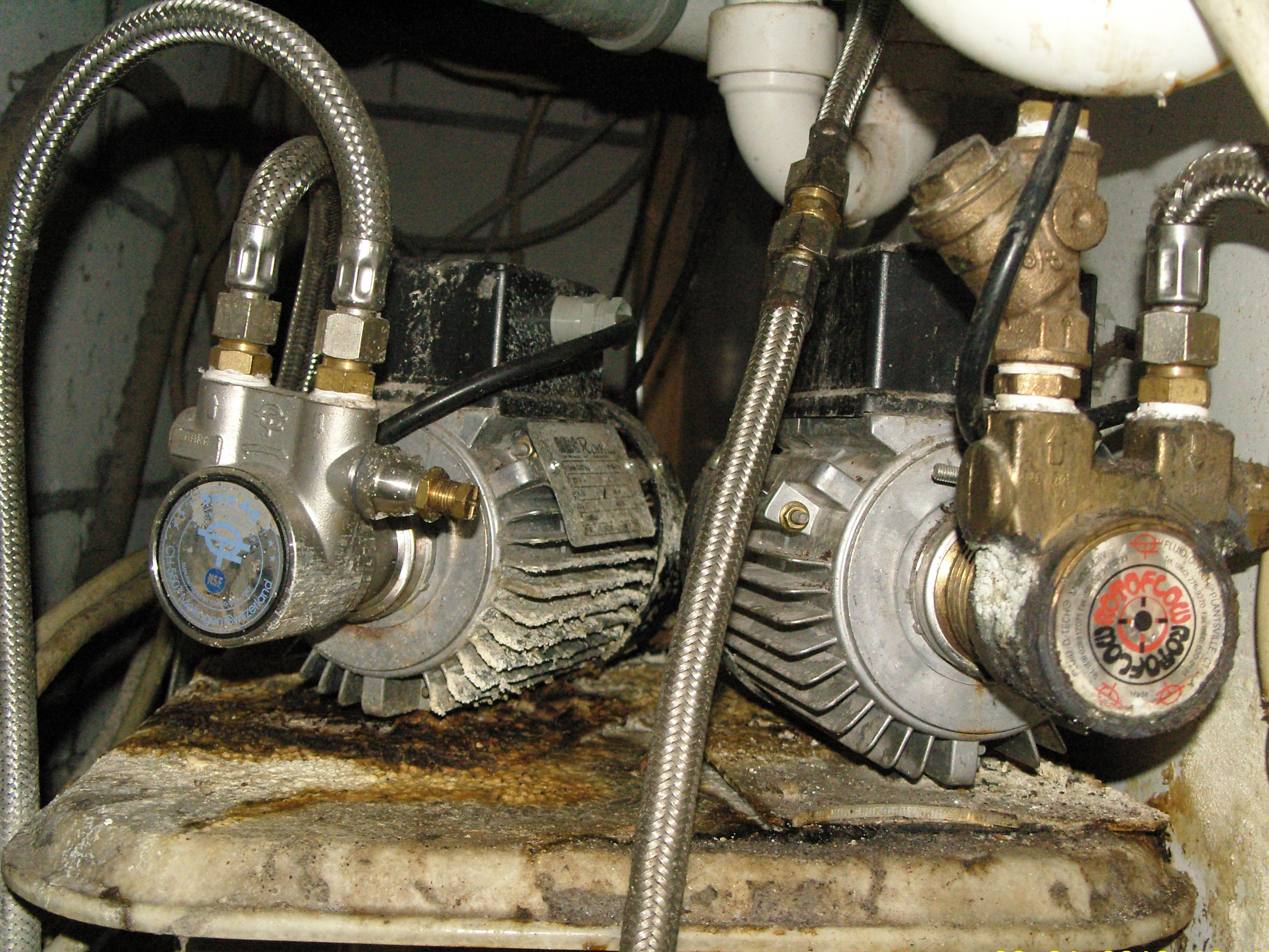 Pumpen einer Schankanlage auf 'entkoppelter' Unterlage
