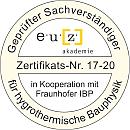 zertifizierter Sachverständiger für hygrothermische Bauphysik